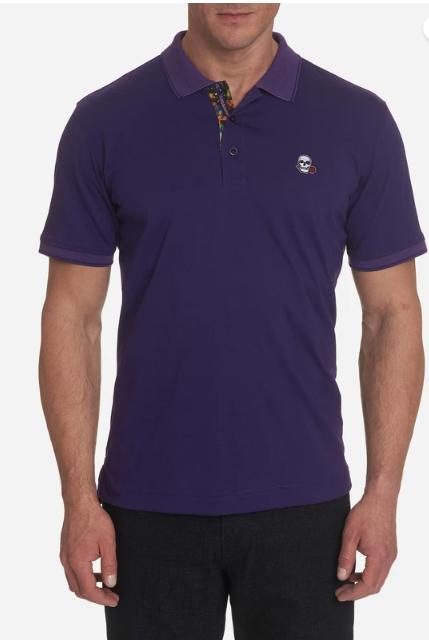 Robert Graham Easton Polo Shirt in Purple