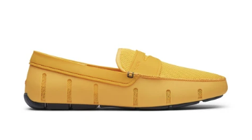 SWIMS Penny Loafer in Gold Fusion and Grey