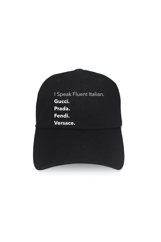 LA Trading Company  Fluent Italia Black Baseball Hat