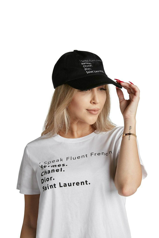 LA Trading Company Fluent French Black Baseball Hat