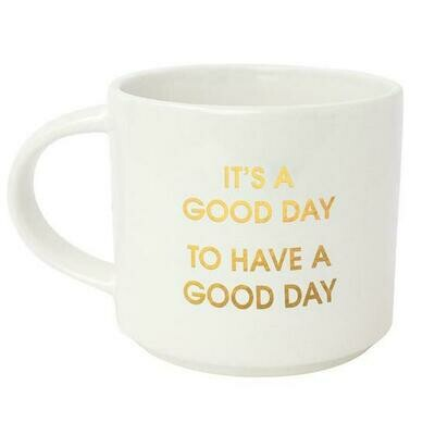 Chez Gagne' It's a Good Day Gold Metallic Mug