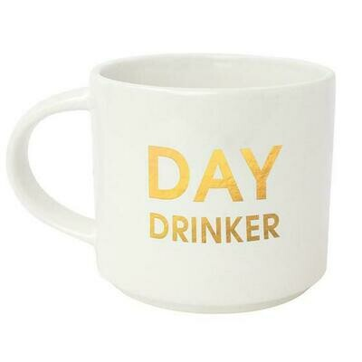 Chez Gagne' Day Drinker Gold Metallic Mug