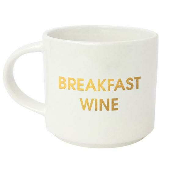 Chez Gagne' Breakfast Wine Gold Metallic Mug