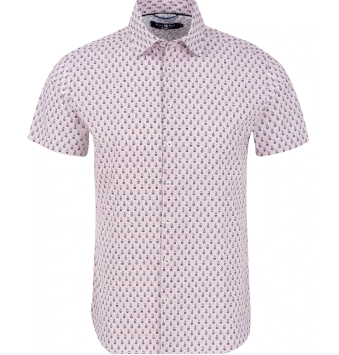 Stone Rose White Bunnies Print Short Sleeve Shirt