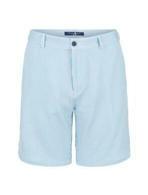 Stonerose Light Blue Stripe Knit Shorts