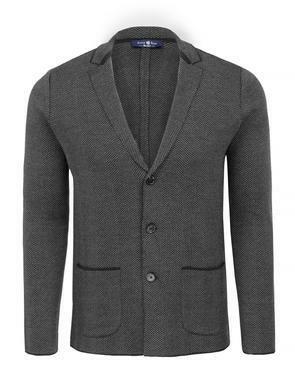 Stone Rose Grey Knit Blazer
