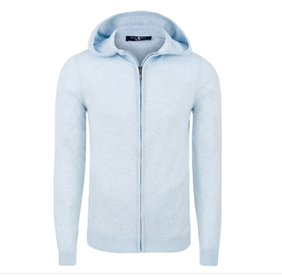 Stone Rose Light Blue Natural Heather Hoodie
