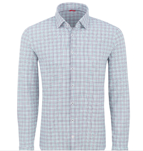 Stone Rose Pink Check Performance Knit Long Sleeve Shirt