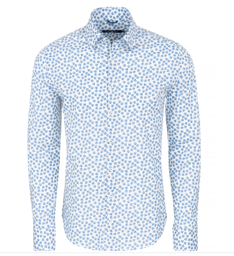 Stone Rose Light Blue Dry Touch Long Sleeve Shirt