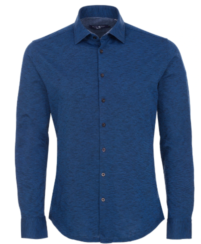 Stone Rose Navy Flame Knit Long Sleeve Shirt