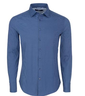 Stone Rose Navy Polka Dot Print Long Sleeve Shirt