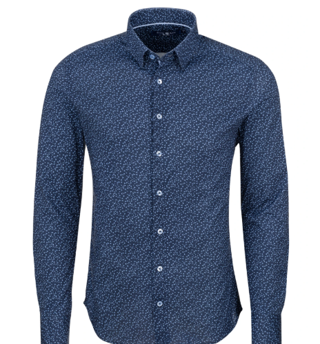 Stone Rose Navy Novelty Knit Long Sleeve Shirt