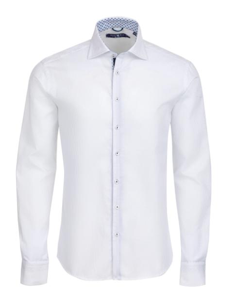 Stone Rose White Waffle Texture Long Sleeve Shirt