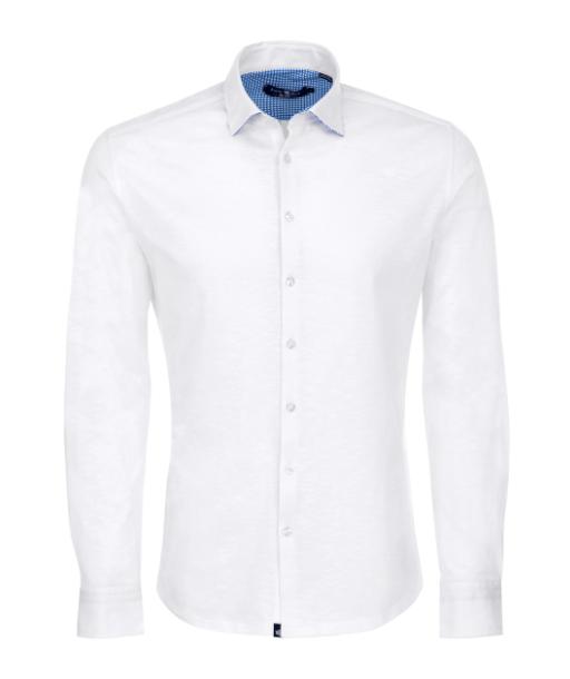 Stone Rose White Flame Knit Long Sleeve Shirt