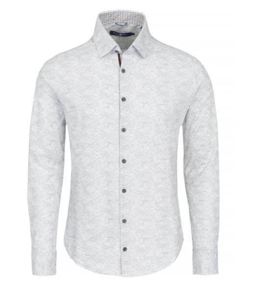 Stone Rose Grey Heather Print Knit Long Sleeve Shirt
