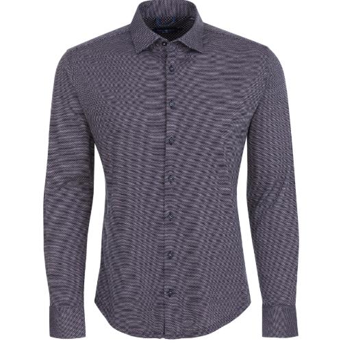 Stone Rose Pink Jacquard Knit Long Sleeve Shirt
