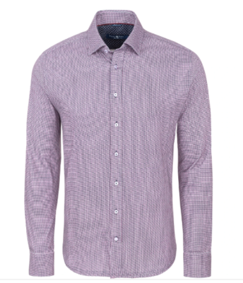 Stone Rose Pink Geometric Knit Long Sleeve Shirt