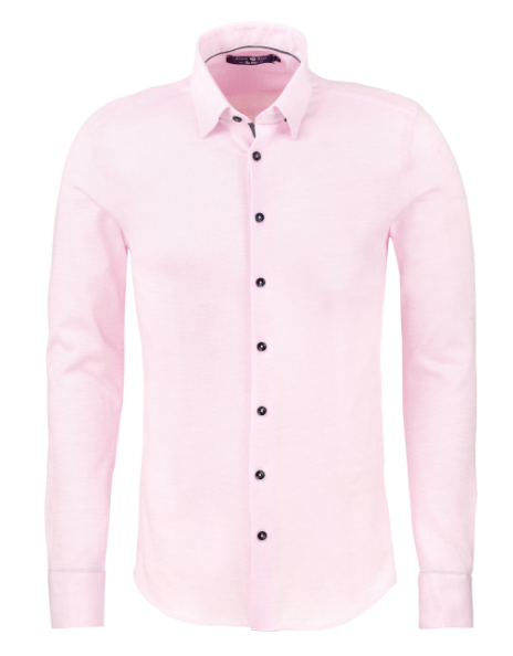 Stone Rose Light Pink Texture Knit Long Sleeve Shirt