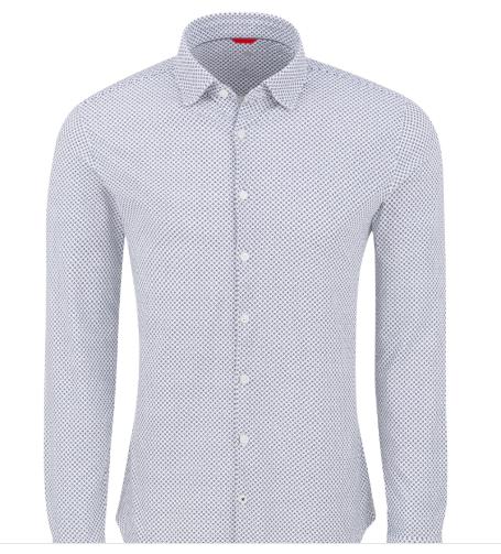 Stone Rose Lavender Geometric Performance Knit Long Sleeve Shirt