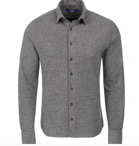 Stone Rose Charcoal Melange Knit Long Sleeve Shirt