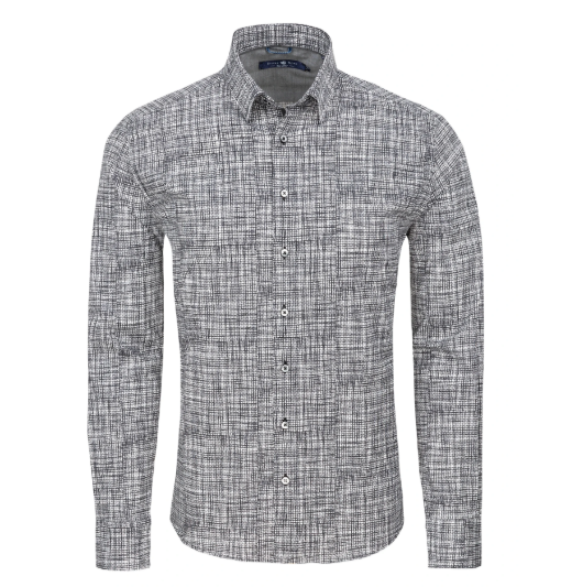 Stone Rose Grey Distressed Long Sleeve Shirt
