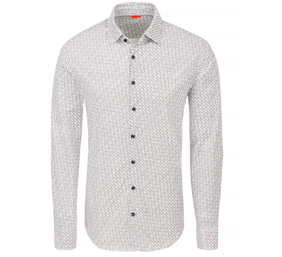 Stone Rose White Vine Knit Performance Long Sleeve Shirt