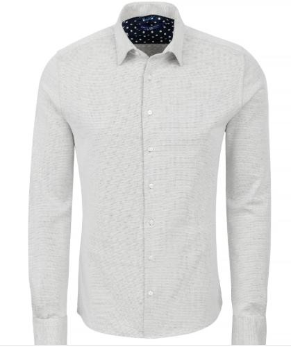 Stone Rose Off White Knit Long Sleeve Shirt