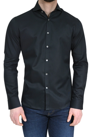 Stone Rose Black Textured Button Down Long Sleeve Shirt