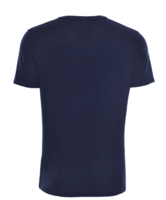 Stone Rose Navy Light Flame Knit V-Neck T-Shirt