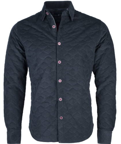 Stone Rose Baby Blue Flame Knit Long Sleeve Shirt
