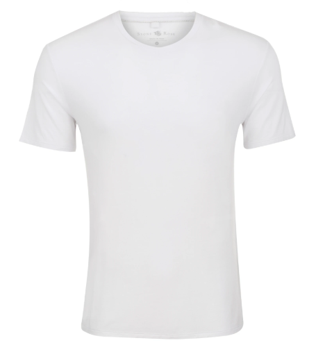 Stone Rose White V-Neck Modal T-Shirt
