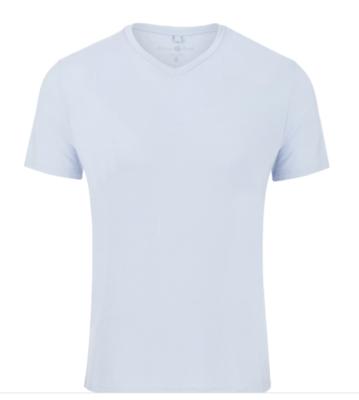 Stone Rose Ash Blue V-Neck Modal T-Shirt