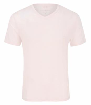 Stone Rose Light Pink V-Neck Modal T-Shirt