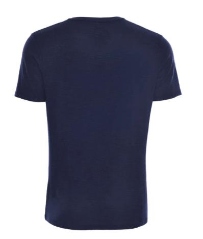 Stone Rose Navy Flame Knit  V-Neck T-Shirt