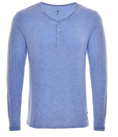 Stone Rose Blue TriBlend Henley