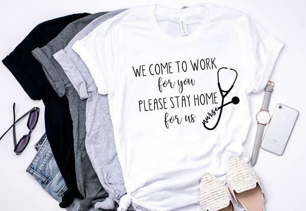 Nurse at Work Tee Shirt