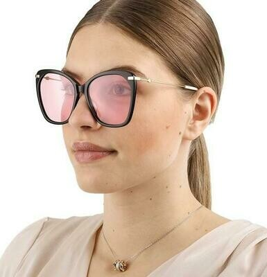 Gucci Butterfly Cat Eye Black Sunglasses With Pink Lens