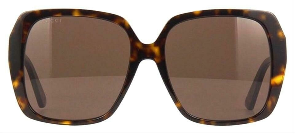 Gucci Square Acetate Sunglasses in Havana Brown