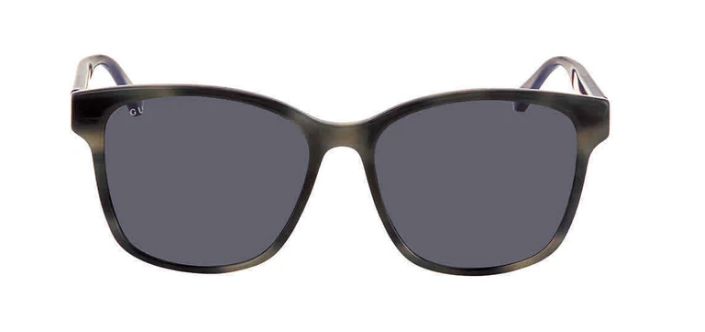 Gucci Unisex Blue Square Sunglasses With Grey Lens