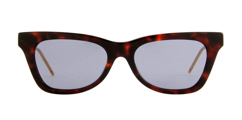 Gucci  Havana Extended Cat Eye Sunglasses