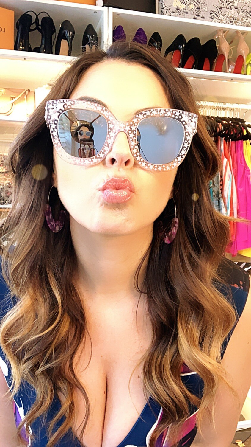 Gucci Clear Acetate Sunglasses With Stars and Swarovski crystals