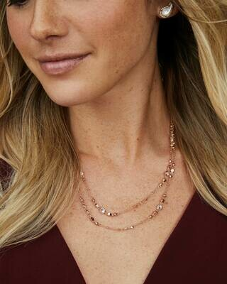 Kendra Scott Long Necklace in Rose Gold