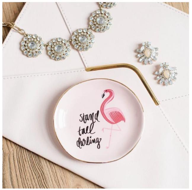 SWD Flamingo Stand Tall Darling Trinket Dish