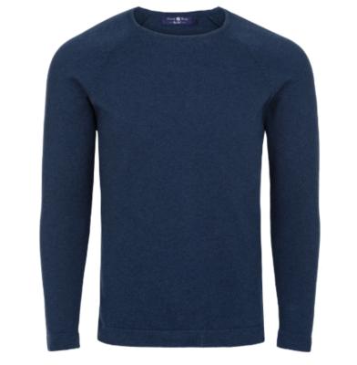Stone Rose Navy Heather Knit Sweater