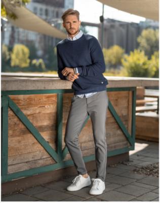 Stone Rose Navy Merino Sweater