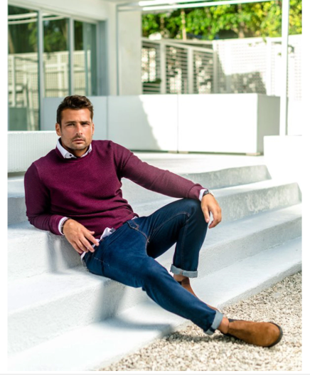 Stone Rose Burgundy Merino Sweater