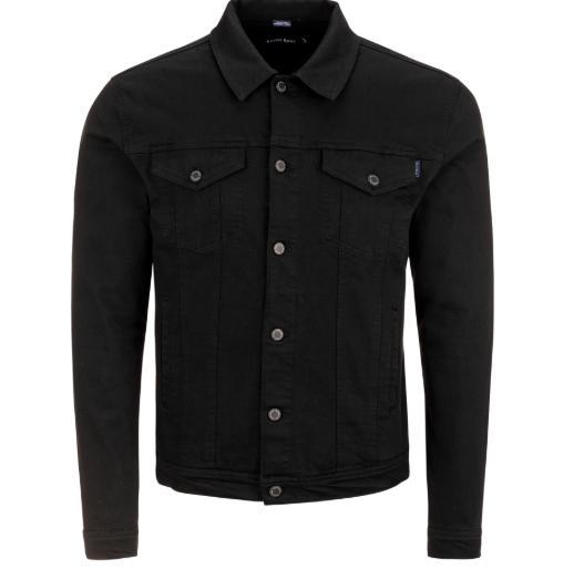 Stone Rose Black Trucker Jacket