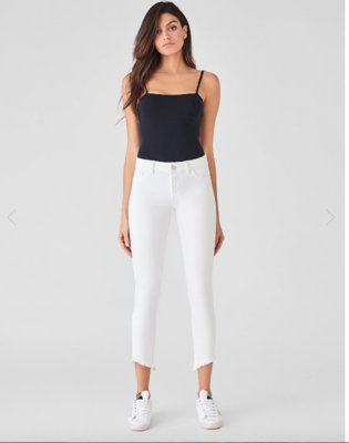DL 1961 Florence Cropped Jean Mid Rise Instasculpt Skinny in Santa Fe