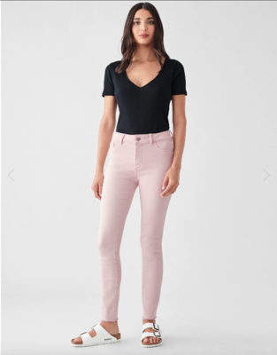 DL 1961 Florence Ankle Jean Mid Rise Instasculpt Skinny in Camellia