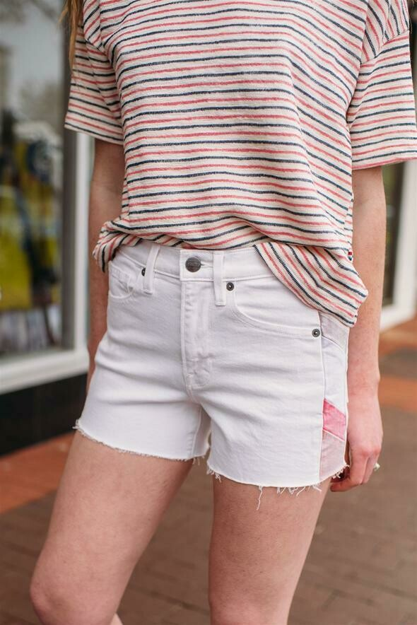 Frame Le Brigette Short Color Block in White